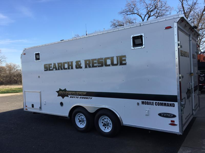 Butte County Sheriff's Search and Rescue - Command Trailer